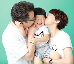 家族記念写真撮影画像