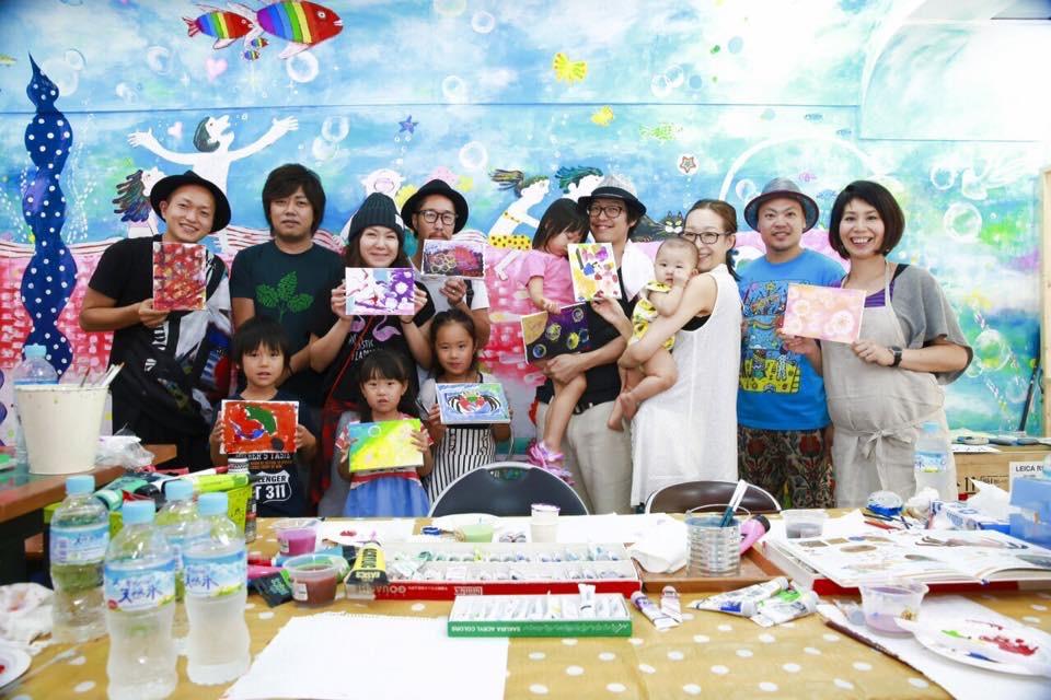 子供たちにアートを体験してもらうイベント art schoolを不定期開催