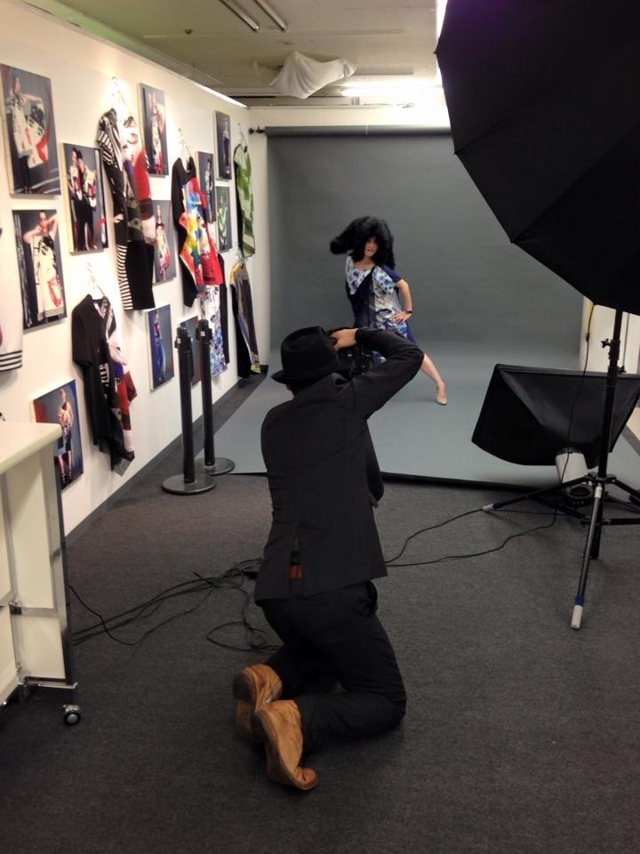 西武福井店 NYマダムのおしゃれスナップ展 会場にて撮影