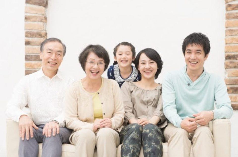 3世代家族写真